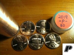 5 COIN [IMPERFECT  SMALL ISSUES] 2019 P LINCOLN SHIELD CENT PENNIES BU  FREE S&H
