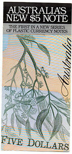 RBA BROCHURE ON THE FIRST $5 POLYMER NOTE RELEASED 1992