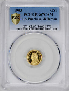 Click now to see the BUY IT NOW Price! 1903 JEFFERSON G$1 PCGS PR 67 CAM