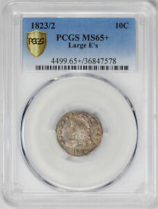 Click now to see the BUY IT NOW Price! 1823/2 CAPPED BUST 10C PCGS MS 65