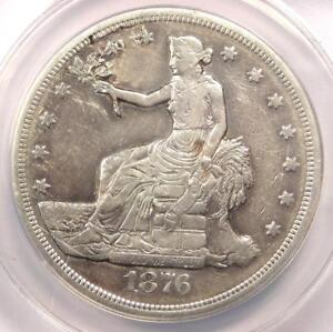 1876 S TRADE SILVER DOLLAR T$1   ANACS XF40 DETAIL  EF40     CERTIFIED COIN
