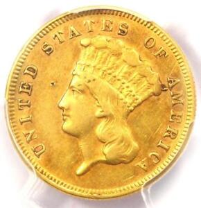1871 THREE DOLLAR INDIAN GOLD COIN $3   CERTIFIED PCGS AU DETAILS    DATE