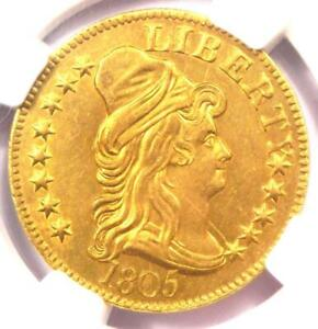 1805 CAPPED BUST GOLD HALF EAGLE $5 COIN   NGC UNCIRCULATED DETAILS  UNC MS