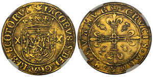 Click now to see the BUY IT NOW Price! SCOTLAND JAMES V  1526 39  SUN AND CROWN AV CROWN. NGC XF40. HOLYROOD. SCBC 5370