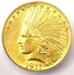 1911 D INDIAN GOLD EAGLE $10 COIN   CERTIFIED ICG MS60  UNC    $9 600 VALUE