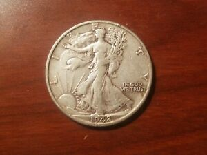 Click now to see the BUY IT NOW Price! 1942 S WALKING LIBERTY HALF DOLLAR SILVER COIN 50 CENT WALKER WWII WAR RELIC