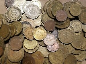 Click now to see the BUY IT NOW Price! 1 POUND OF COINS FROM GERMANY ONE LB GERMAN LOT MARKS PFENNIG STOCKING STUFFER