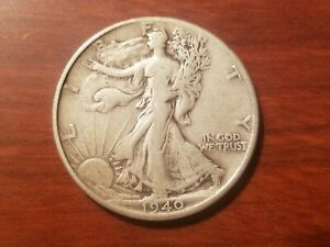 Click now to see the BUY IT NOW Price! 1940 P WALKING LIBERTY HALF DOLLAR SILVER COIN 50 CENT WALKER WWII WAR RELIC