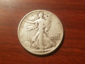 Click now to see the BUY IT NOW Price! 1942 P WALKING LIBERTY HALF DOLLAR SILVER COIN 50 CENT WALKER WWII WAR RELIC