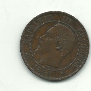 HIGH GRADE XF DETAILS 1856 BB FRANCE FRENCH 10 CENTIMES COIN OCT573