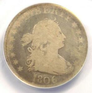 1806 DRAPED BUST QUARTER 25C   ANACS AG3    DATE   CERTIFIED COIN
