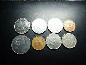 LOT OF 8 WORLD COINS