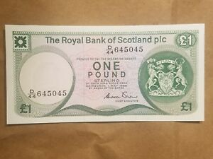 Click now to see the BUY IT NOW Price! 1986 ROYAL BANK OF SCOTLAND PLC 1 POUND SCOTTISH NOTE P 341AA CRISP UNC