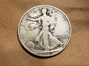 Click now to see the BUY IT NOW Price! 1939 P WALKING LIBERTY HALF DOLLAR SILVER COIN 50 CENTS WALKER 50C 1/2 NICE