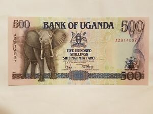 Click now to see the BUY IT NOW Price! 1991 UGANDA 500 SHILLINGS NOTE BANKNOTE UGANDAN ELEPHANT P 33A CU UNCIRCULATED