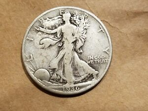 Click now to see the BUY IT NOW Price! 1936 D WALKING LIBERTY HALF DOLLAR SILVER COIN 50 CENTS WALKER 50C 1/2 NICE