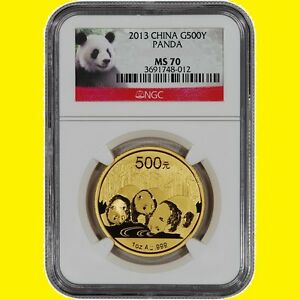 Click now to see the BUY IT NOW Price! 2013 CHINA 500Y 1 OZ GOLD PANDA NGC MS 70  1