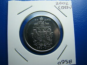 50 CENT 2002 UNCIRCULATED FROM MINT ROLL  A958