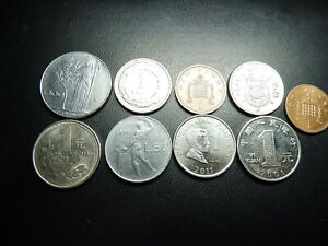 LOT OF 9 WORLD COINS