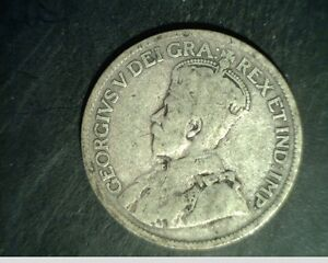 1935 CANADA 25 CENTS AVERAGE GRADE CIRCULATED .1500 OZ SILVER  CAN 591