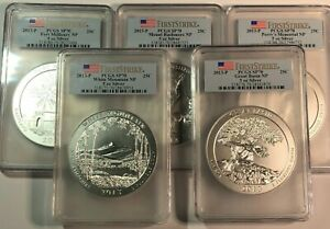 Click now to see the BUY IT NOW Price! 2013 P AMERICA T BEAU. ATB 5 OZ SET PCGS SP70 FIRST STRIKE WHITE MOUNTAIN   4