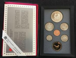 1988 CANADA DOUBLE DOLLAR PROOF SET IN ORIGINAL BOX COA W/IRONWORKERS DOLLAR