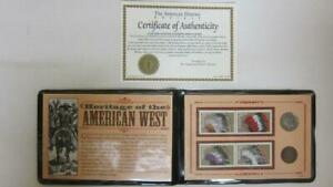 HERITAGE OF THE AMERICAN WEST BUFFALO NICKEL INDIAN HEAD CENT STAMP COLLECTION