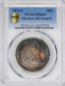 Click now to see the BUY IT NOW Price! 1812/1 CAPPED BUST 50C PCGS MS 64