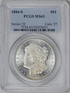 Click now to see the BUY IT NOW Price! 1884 S MORGAN S$1 PCGS MS 63