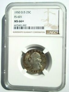 Click now to see the BUY IT NOW Price! 1950 D/S WASHINGTON QUARTER   MS 66    TOP POP  2/0  AT NGC   REGISTRY COIN