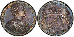 Click now to see the BUY IT NOW Price! SWEDEN CARL XII 1718 LC AR RIKSDALER PCGS MS63 KM 362 STAR IN SHIELD EX PITTMAN