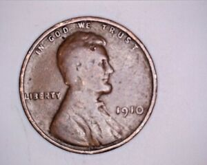 1910 COPPER LINCOLN WHEAT CENT
