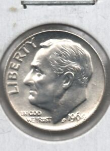 1964 D  ROOSEVELT BU SILVER  DIME   UNCIRCULATED