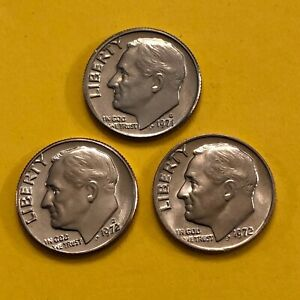 DIME 1971D 1972PD UNCIRCULATED