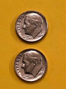 DIME 1984D 1985D UNCIRCULATED