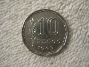 LOT OF 20 ARGENTINA 10 PESO  COINS  1960;S GAUCHO