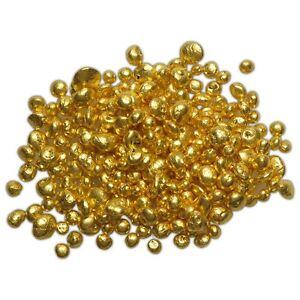 1 GRAM GOLD 24K .9999  REFINED PURE GOLD GRAIN SHOT CASTING ROUND BULLION