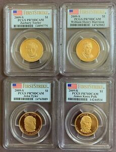Click now to see the BUY IT NOW Price! 2009 S PRESIDENTIAL DOLLAR SET FIRST STRIKE PCGS PR70DCAM
