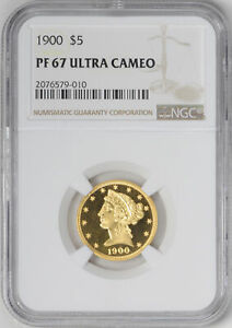 Click now to see the BUY IT NOW Price! 1900 LIBERTY $5 NGC PR 67 DCAM