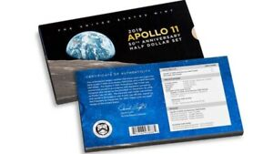 2019 APOLLO 11 50TH ANNIVERSARY ENHANCED REVERSE PROOF HALF DOLLAR ERROR 19CF