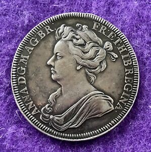HISTORICAL MEDAL MEDALLION 1702 CORONATION OF QUEEN ANNE