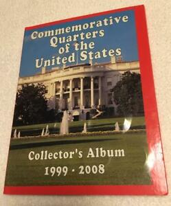 COMMEMORATIVE QUARTERS OF THE UNITED STATES COLLECTOR'S ALBUM 1999 2008 FILLED