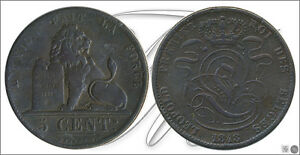BELGIUM   COIN CIRCULATION  YEAR: 1848   NUMBER KM00005.1A 48   5 CENTIMOS 184