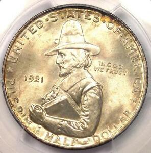 Click now to see the BUY IT NOW Price! 1921 PILGRIM HALF DOLLAR 50C COIN   PCGS MS66  PQ PLUS GRADE   $1 500 VALUE