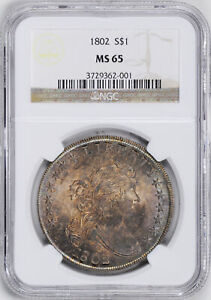Click now to see the BUY IT NOW Price! 1802 DRAPED BUST $1 NGC MS 65