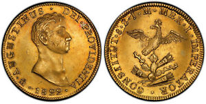 Click now to see the BUY IT NOW Price! MEXICO. AUGUSTIN I ITURBIDE. 1822 MO JM AV 8 ESCUDOS. PCGS AU55. KM 313.1.