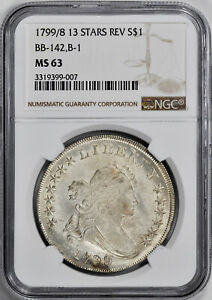 Click now to see the BUY IT NOW Price! 1799/8 BUST $1 NGC MS 63