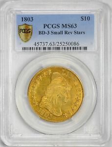 Click now to see the BUY IT NOW Price! 1803 DRAPED BUST $10 PCGS MS 63