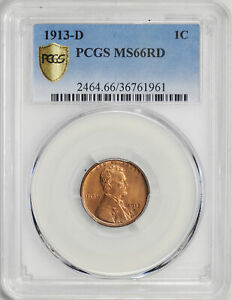 Click now to see the BUY IT NOW Price! 1913 D LINCOLN BRONZE 1C PCGS MS 66 RD