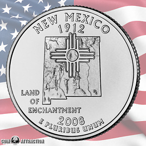 2008 D NEW MEXICO U.S. STATE QUARTER  UNCIRCULATED  SINGLE COIN
